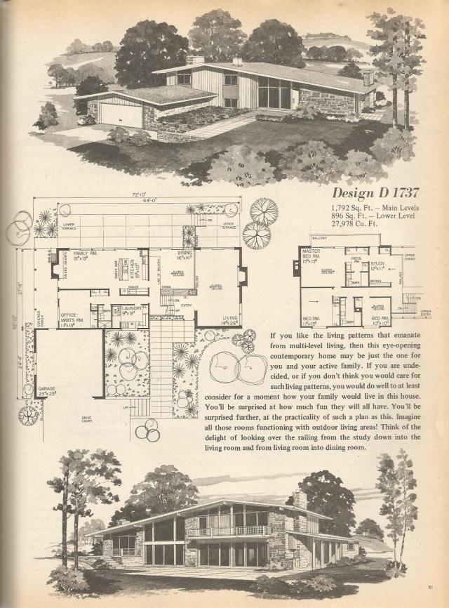 Vintage House Plans Multi Level Homes Part 13 Vintage House Plans Modern House Plans Vintage House