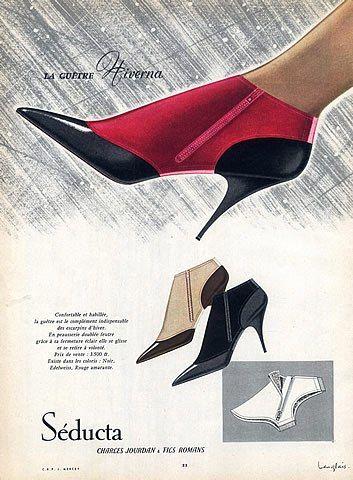 Hivernavintage Guêtre J SéductaShoes1958 SéductaShoes1958 J Langlais c1JlFKT