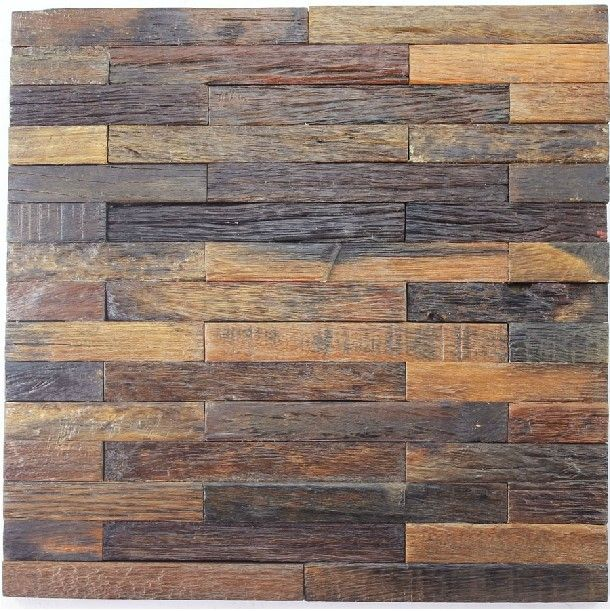 Natural wood mosaic tile rustic wood wall tiles NWMT010 kitchen ...