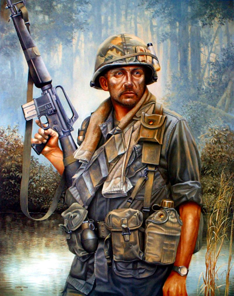 US trooper in Vietnam