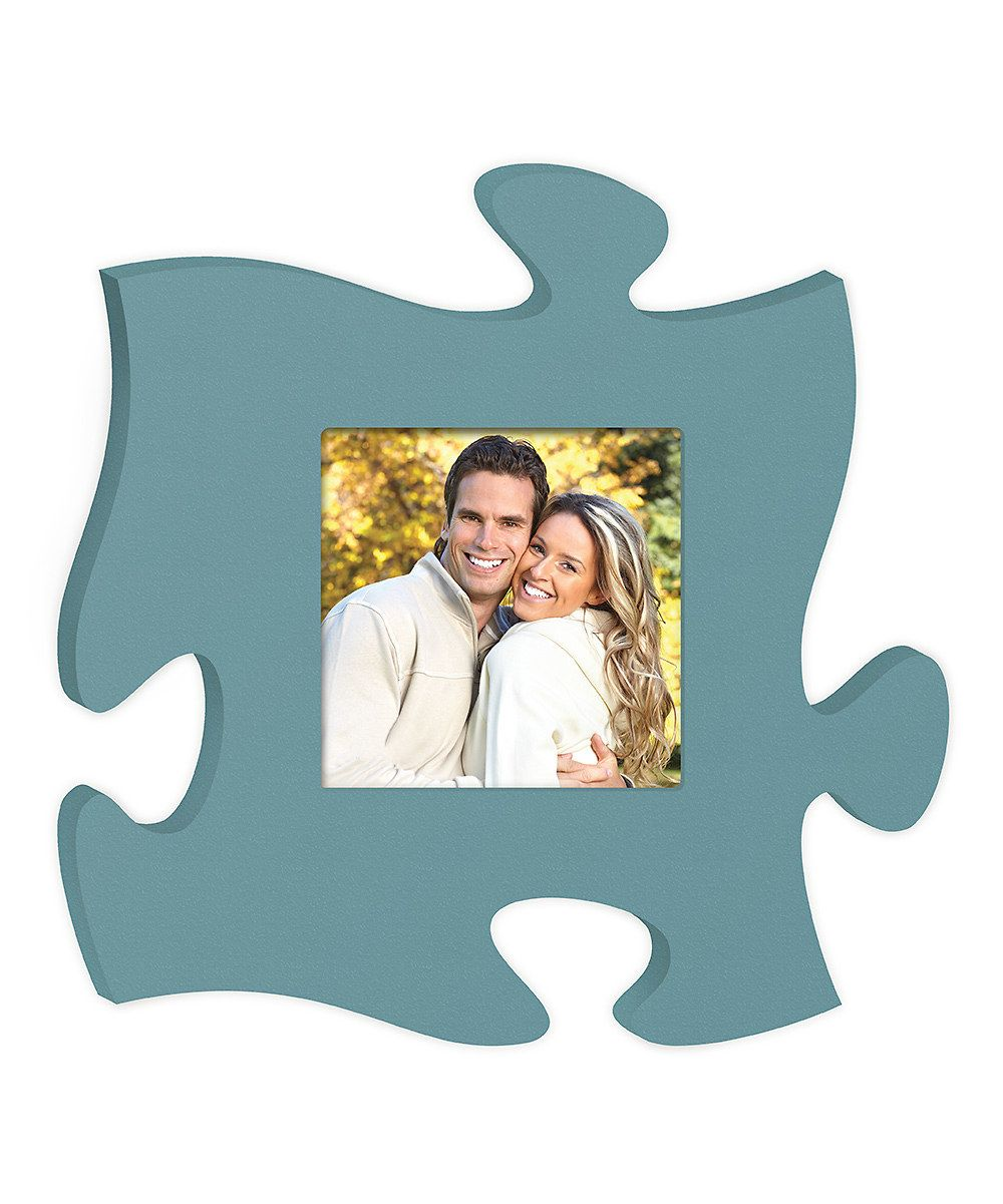 Love this Blue Puzzle Piece Photo Frame by P. Graham Dunn on #zulily ...