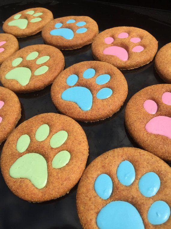 Gourmet Dog Treats Big Paws Decorated Dog Cookies Homemade Dog