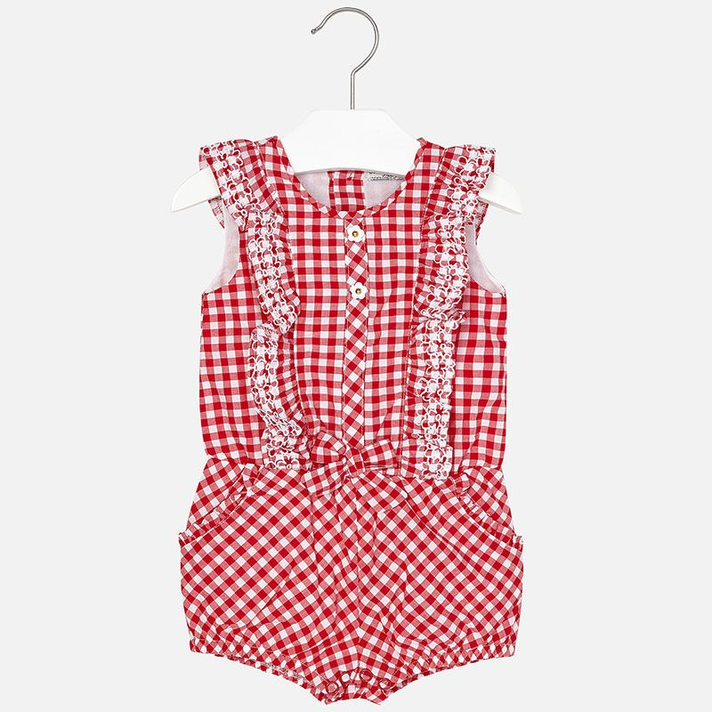 7bd3fc633162 Mayoral Red Check Romper