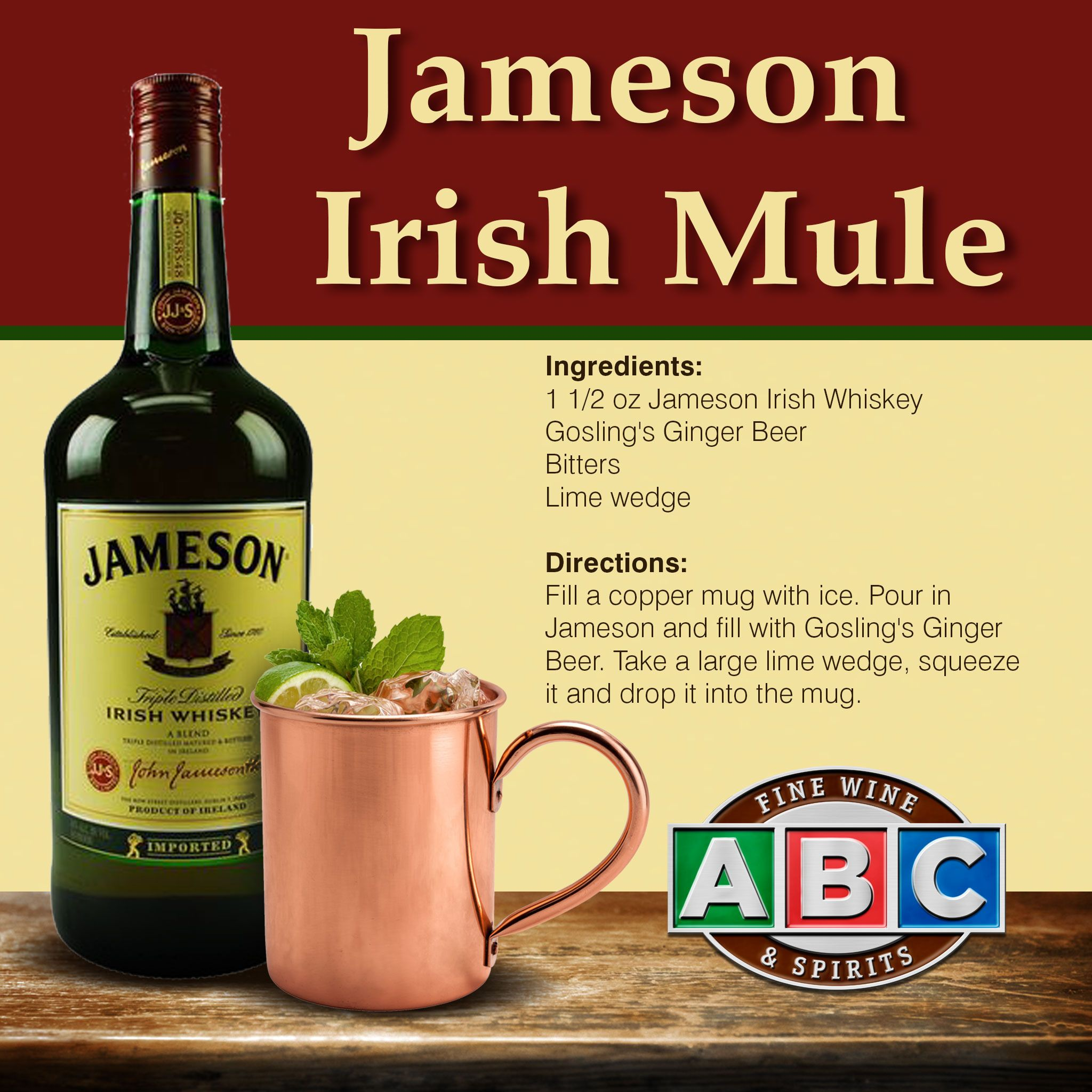 Jameson irish mule drinks pinterest beverage food for Mixed drink with jameson
