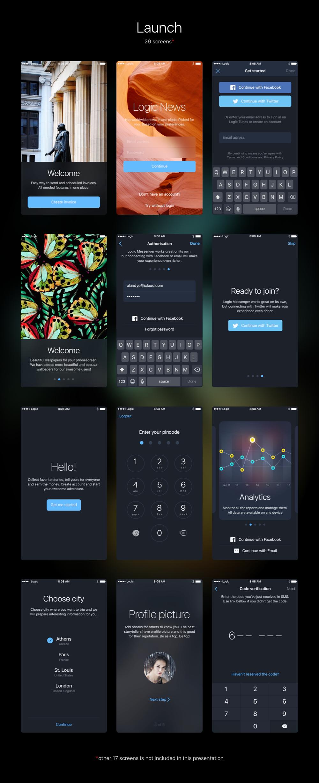 Logic iOS Kit в 2020 г Дизайн мобильных, Дизайн, Мобильные
