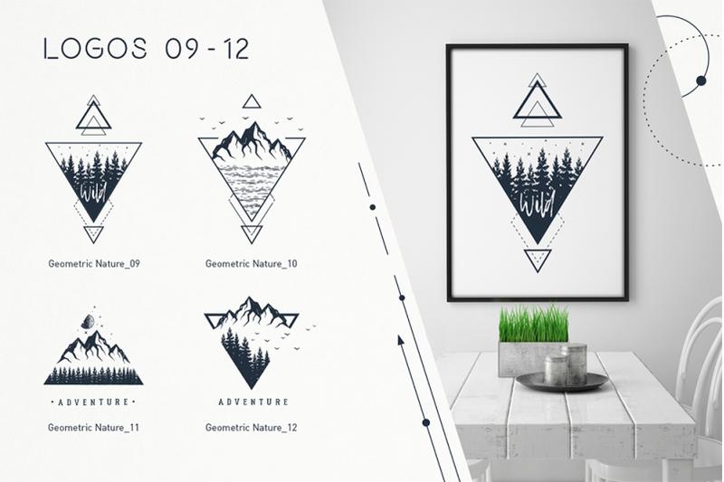 Geometric Nature. 20 Greative Logos By Cosmic Store