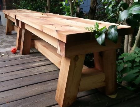 Cedar Benches Do It Yourself Home Projects From Ana White Cedar Bench Rustic Dining Furniture Outdoor Dining Furniture