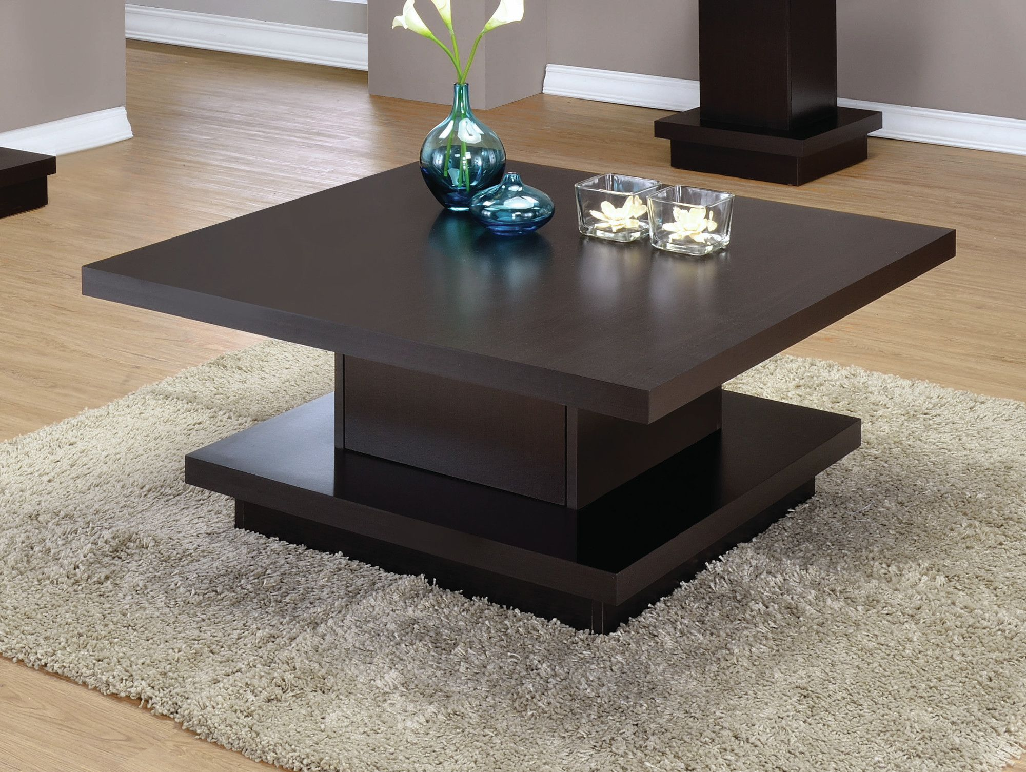 - Kassidy Coffee Table Pedestal Coffee Table, Contemporary Coffee
