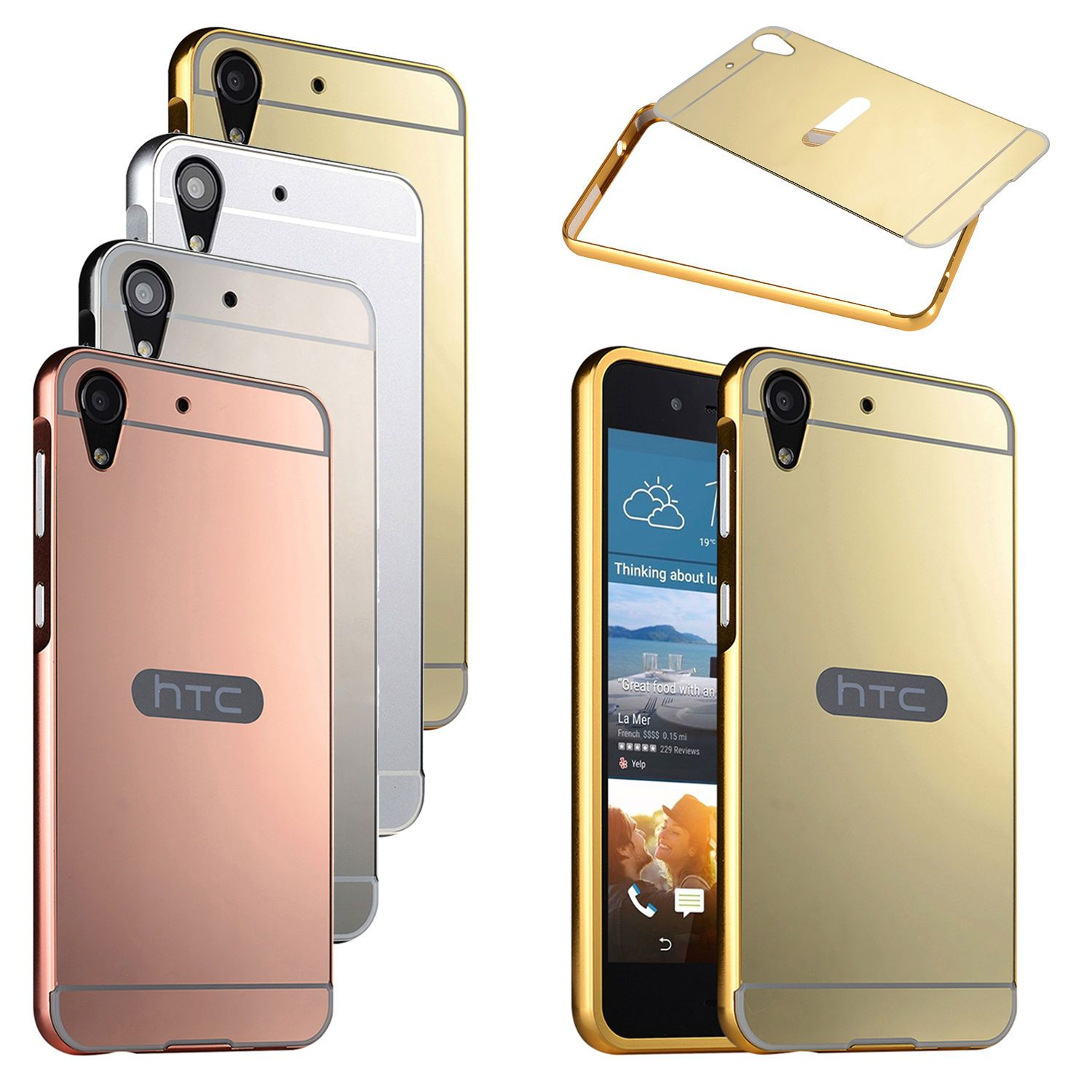 brand new 43e09 04eb7 Details about Hybrid Aluminum Metal Mirror Back Cover Frame Case For ...