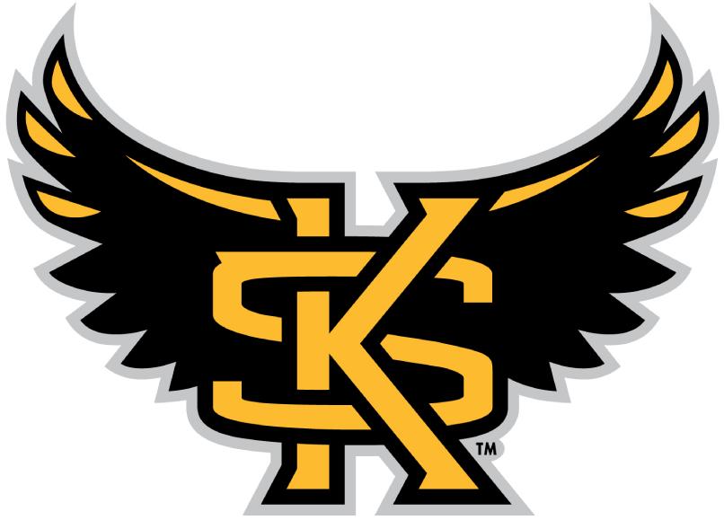 Kennesaw State Owls Alternate Logo (2012) Winged KS