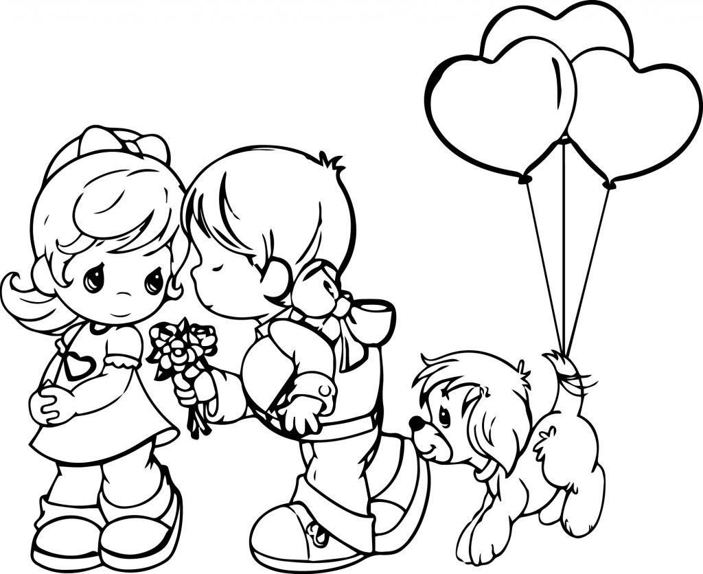 precious moments couples coloring pages. valentines day coloring ...