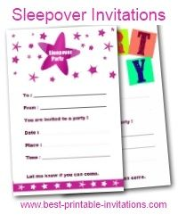 Free printable sleepover invitations books worth reading free printable sleepover invitations filmwisefo Image collections