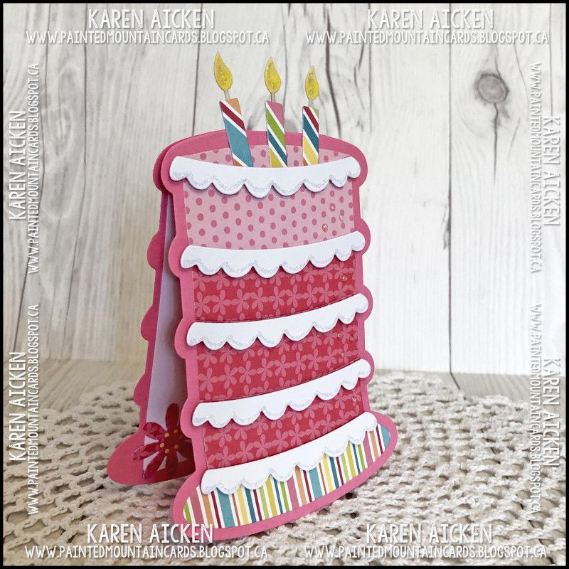 Birthday Cake Shaped Card Cake Shapes Birthday Greeting Cards