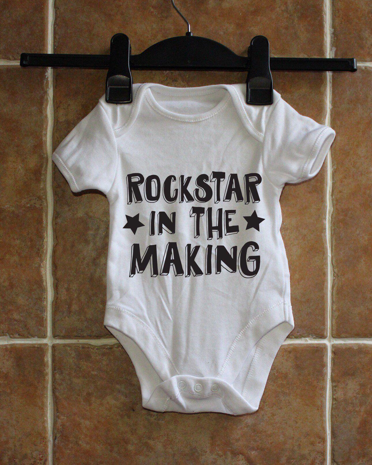 BABY BOY,GIRL GOTH BABY BLACK VEST,BABYGROW,ROMPER,GIFT,BABY CLOTHES BODYSUIT