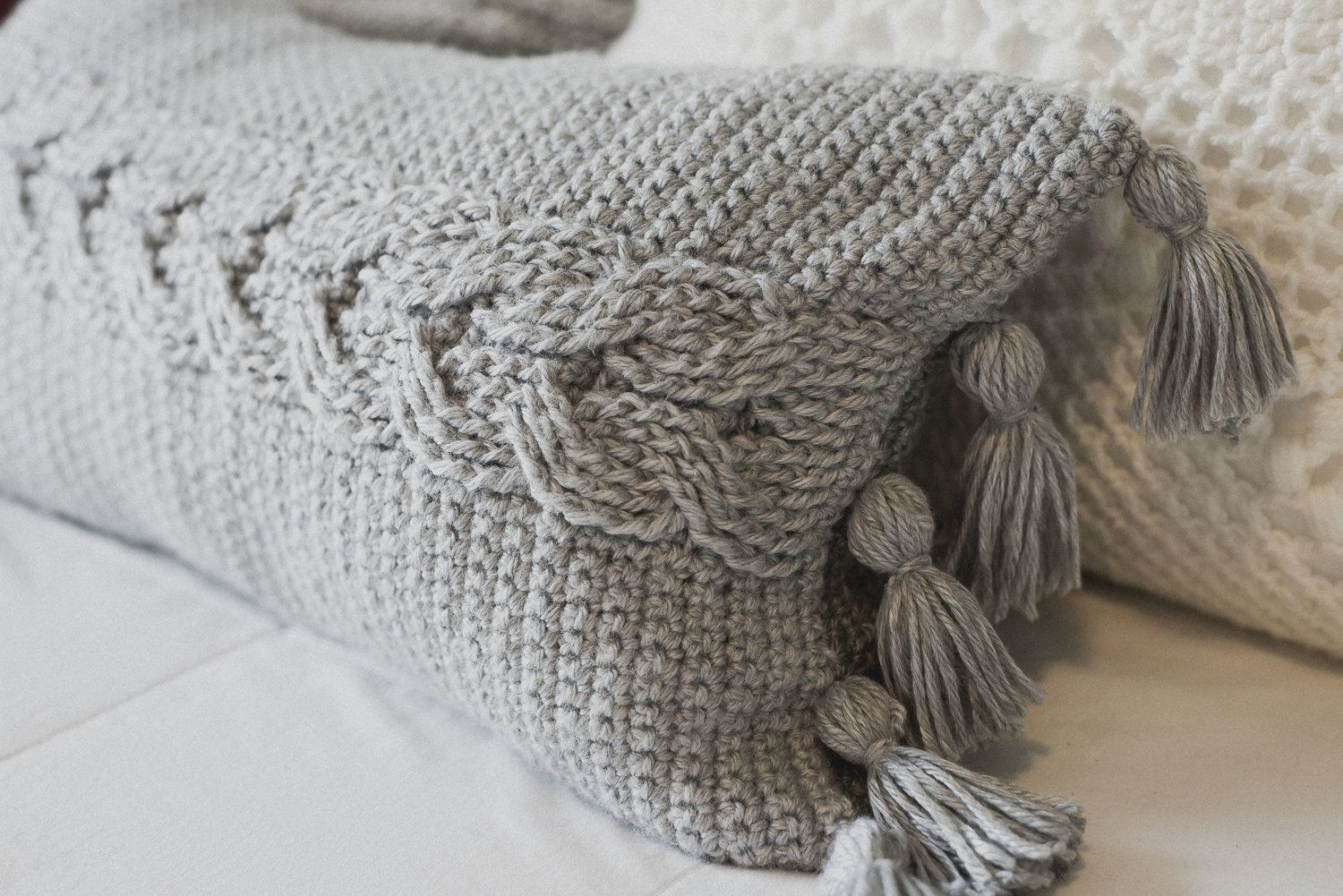 Crochet Cabled Throw Pillow Pattern