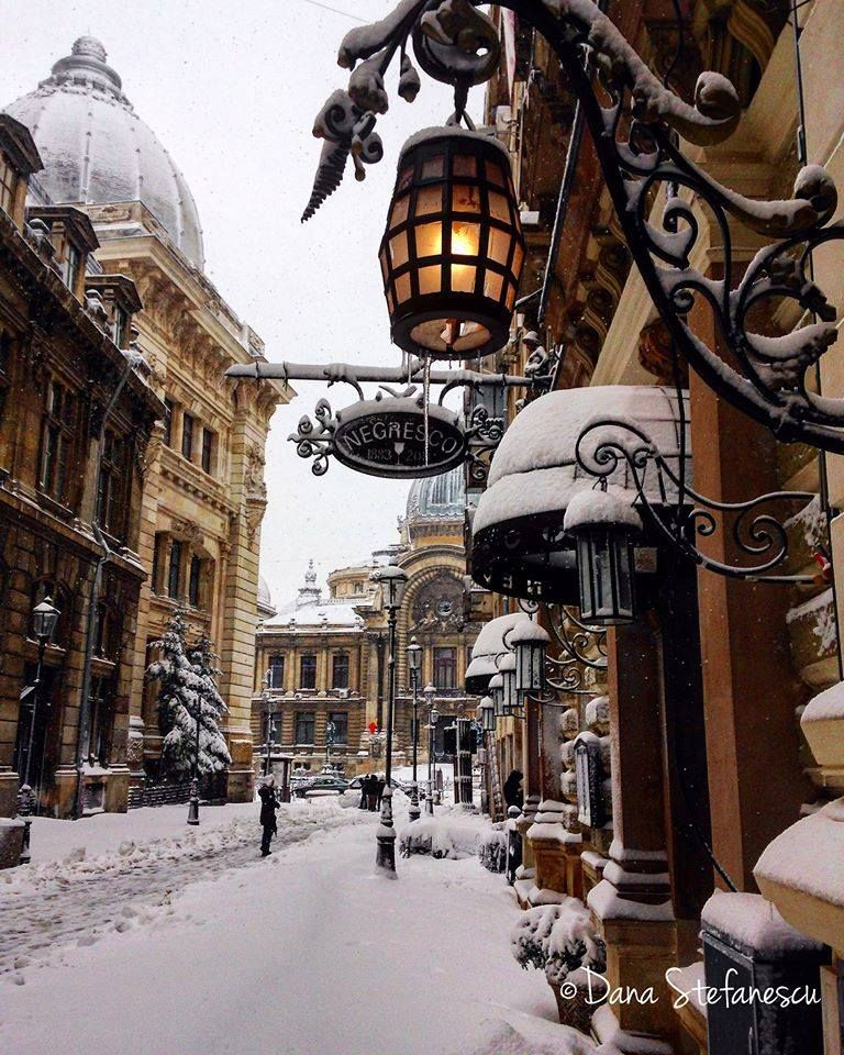 Snowy Bucharest