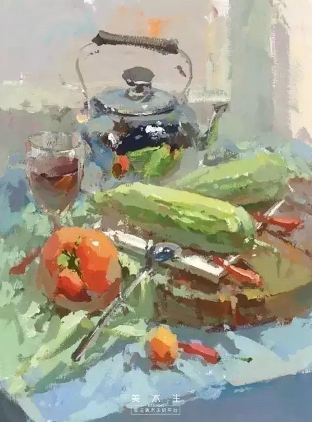 Like The Way This Is Painted Peinture Vegetale Nature Morte Et