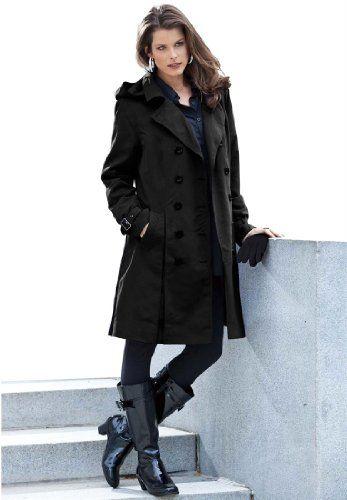Roamans Women's Plus Size Skirted Trench Jacket (Black,22 W) Roamans,http://www.amazon.com/dp/B008Y5R9V6/ref=cm_sw_r_pi_dp_A5NFsb0PEDHEQ7FT