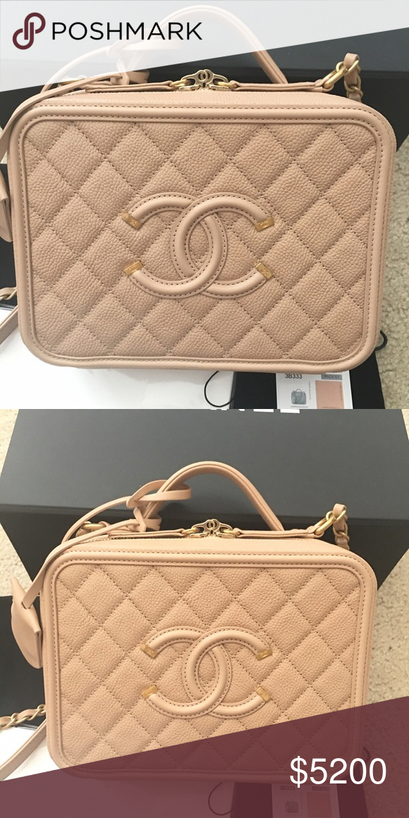 dd54a40b90496e Spotted while shopping on Poshmark: Chanel Vanity Bag! #poshmark #fashion # shopping