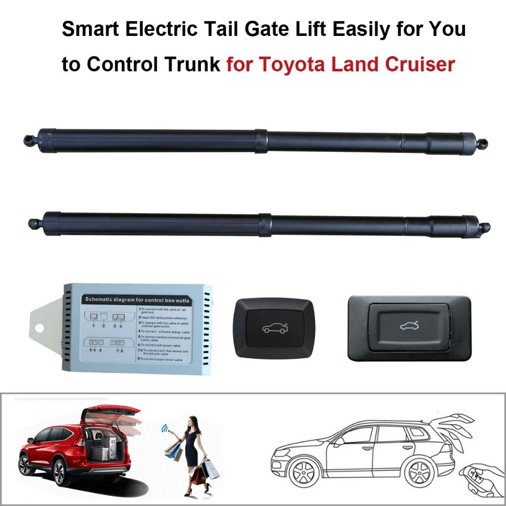 smart auto electric tail gate lift for toyota land cruiser control by remote drive seat tail [ 1000 x 1000 Pixel ]