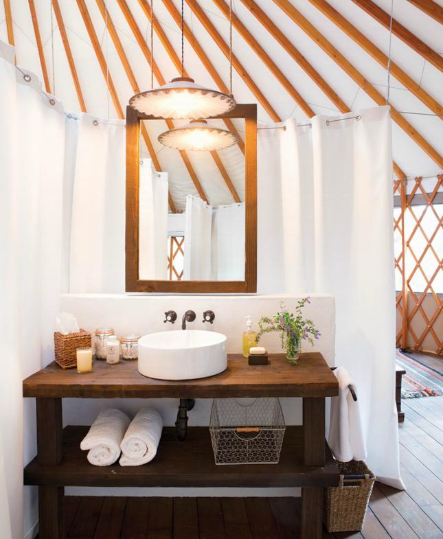 Bathroom Yurt 10 modern yurts you could totally live in | modern, yurts and yurt