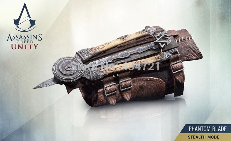 Assassins Creed Unity 1:1 Phantom Hidden Blade Gauntlet Cosplay Toys Gift in Box