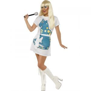 Woman S Adult 70 S Dancing Queen Abba Mamma Mia Disco Fancy Dress