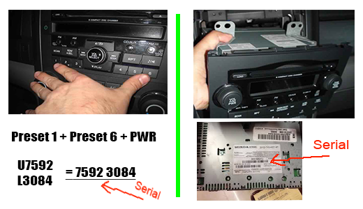 2003 honda accord radio code reset