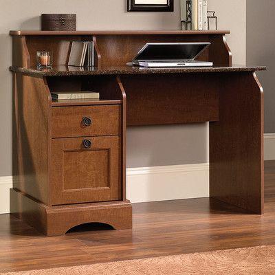 Charlton Home Reg Barker Writing Desk With 2 Storage Drawers