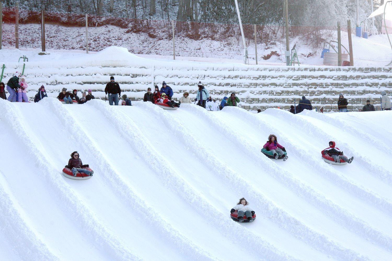 snow tubing in gatlinburg - Christmas Mountain Tubing