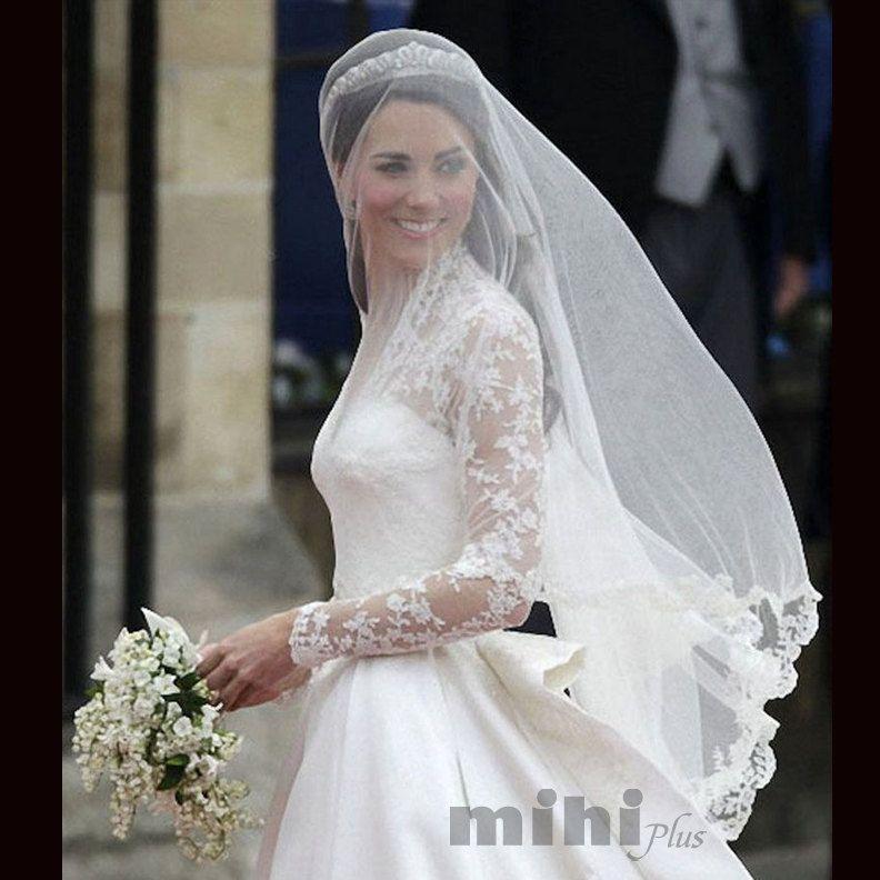 Princess Kate Wedding Veil Middleton Bridal Lave
