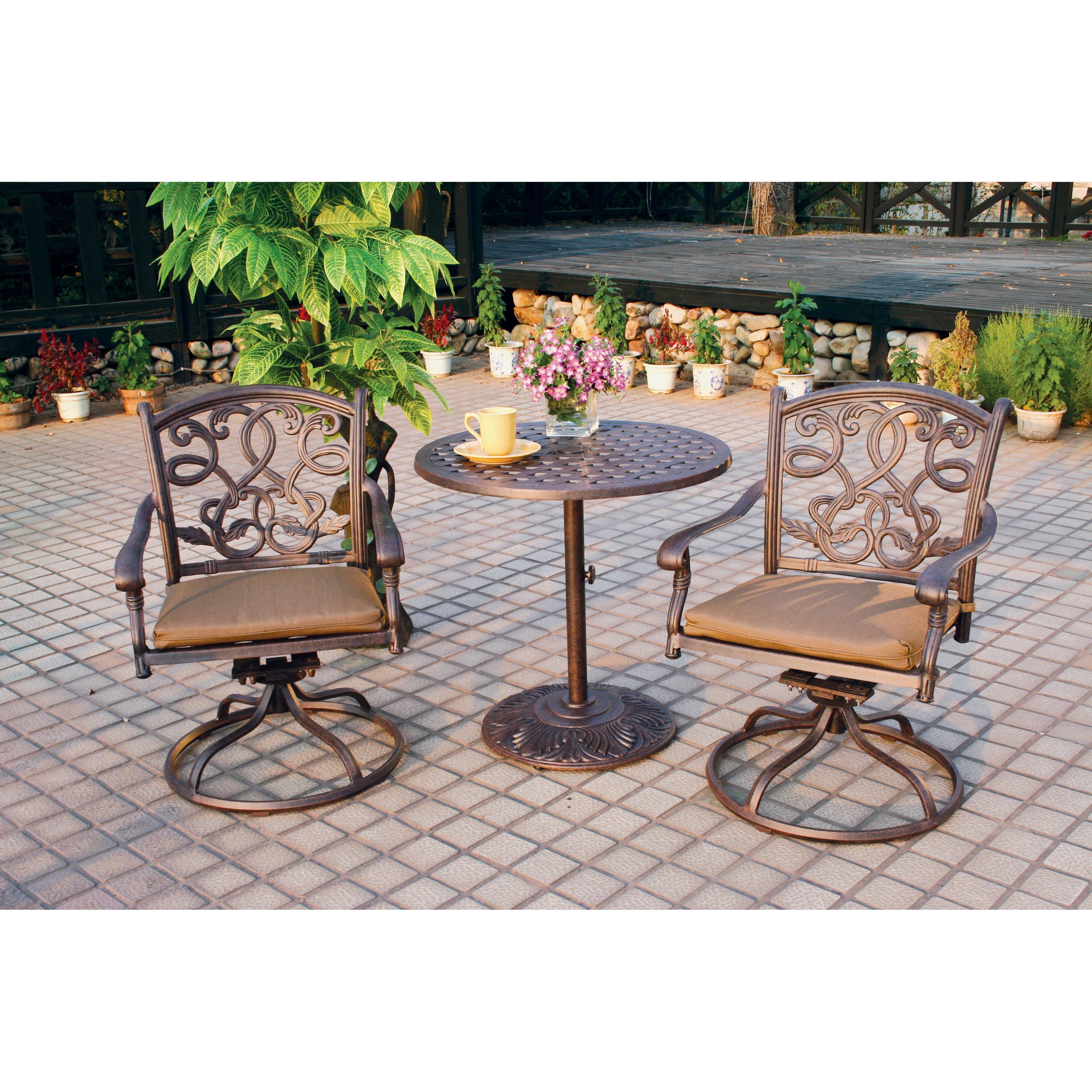 Super Outdoor Darlee Santa Monica Cast Aluminum 3 Piece 30 In Interior Design Ideas Tzicisoteloinfo