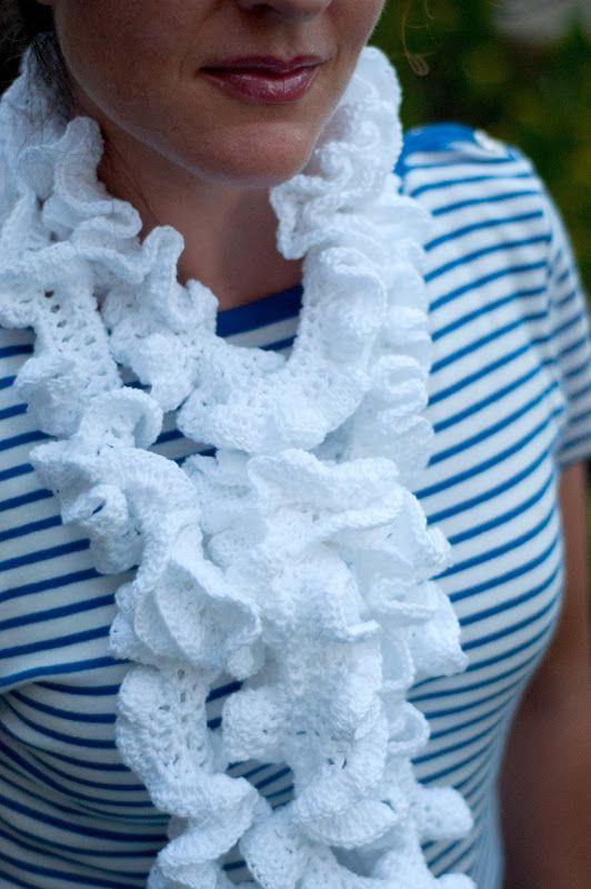 Aesthetic Nest: Crochet: Ruffled Summer Scarf (Pattern) | Crocheted ...