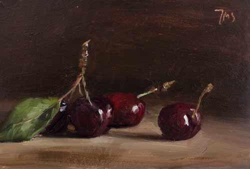 Daily painting of Cherries - Julian Merrow-Smith