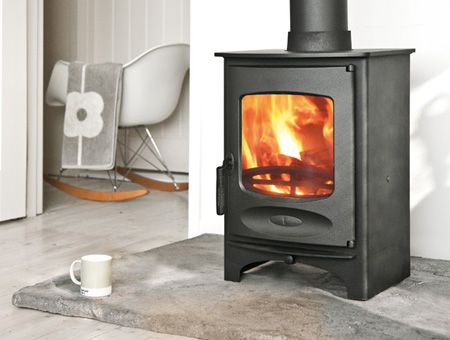 Charnwood C-Seven multi fuel / wood burning stove store stand model