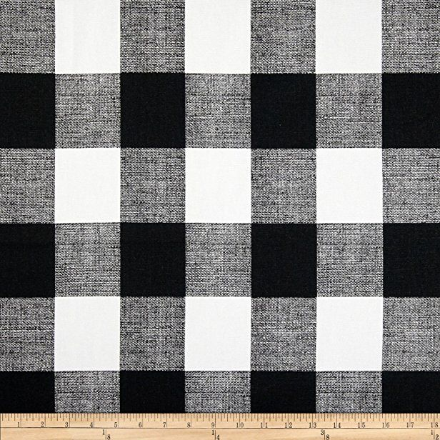 Premier Prints Anderson Check Black White Fabric By The