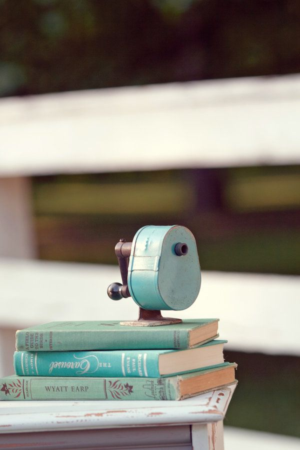 Pencil sharpener -- I would need to start using pencils to justify this Qt! #aqua #vintage