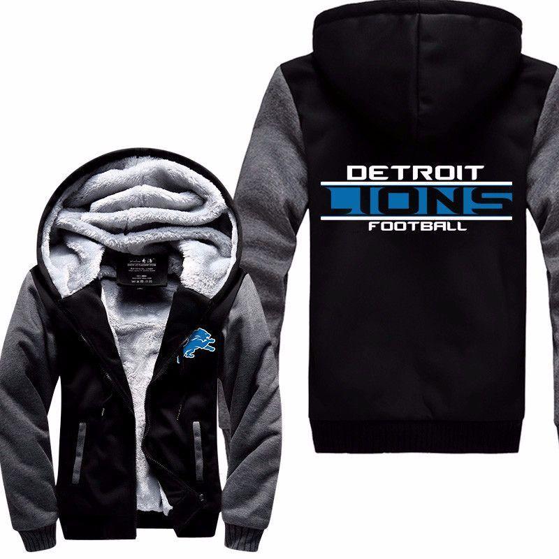 New NFL Detroit Lions Thick Jacket