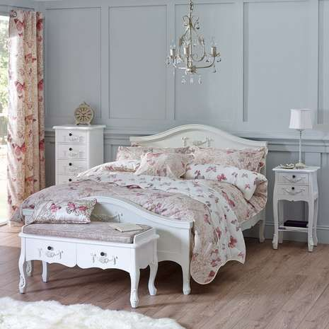 Toulouse White Bench White Bedroom Furniture Furniture - Toulouse bedroom furniture white