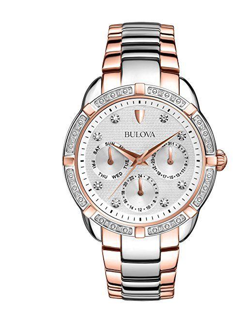 54aa15788762 Bulova 98R177 - Reloj analógico de cuarzo para mujeres