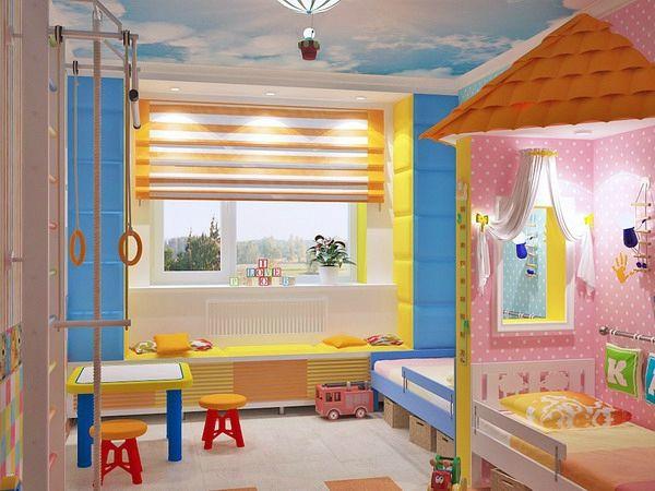 Kinderzimmer komplett gestalten - Junge und Mädchen teilen ein - gestalten rosa kinderzimmer kleine prinzessin