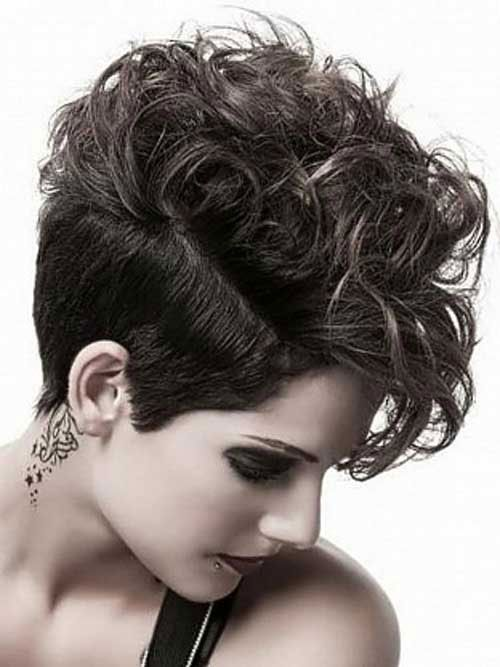 30 Easy Short Hairstyles For Thick Wavy Hair Cool Trendy 2017 Curly Pixie Hairstylescute