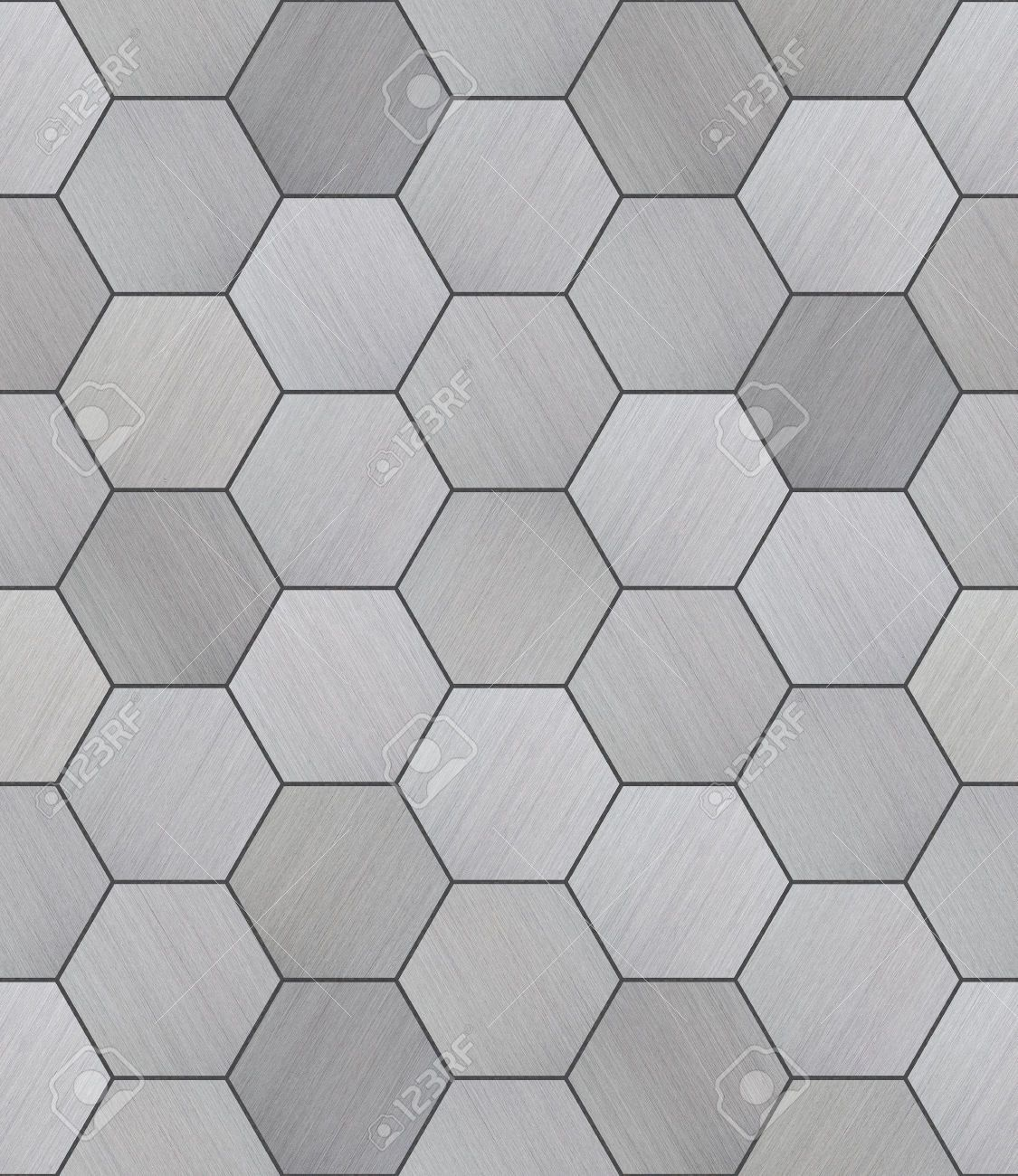 Tiled bathrooms gallery - 36643327 Hexagonal Aluminum Tiled Seamless Texture Stock