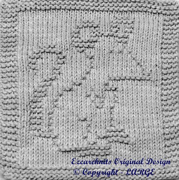 Knitting Cloth Pattern - PAPA MOUSE -  PDF #patiodepapas