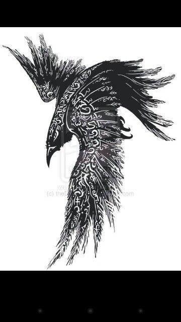 Norse Raven Tattoos : norse, raven, tattoos, Norse, Raven, Tattoo,, Celtic, Tattoo