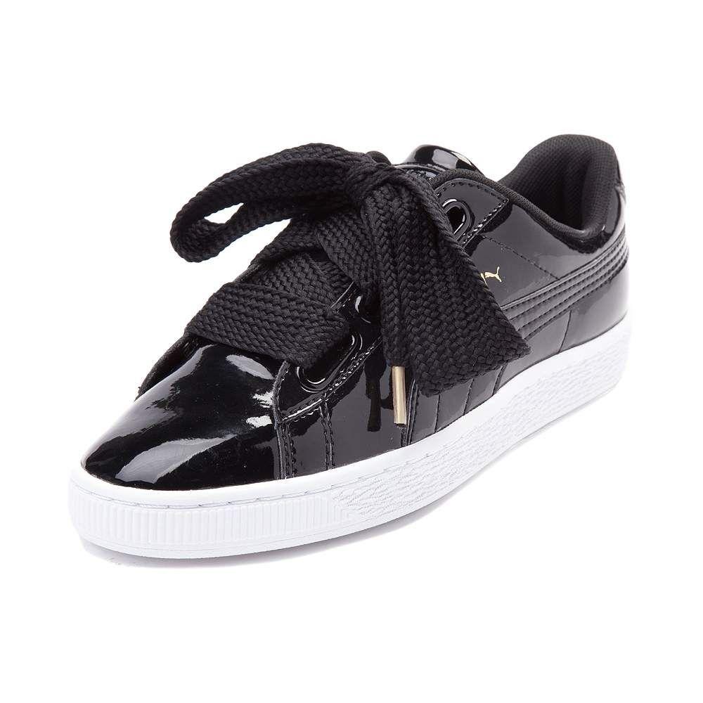 puma basket heart patent athletic shoe