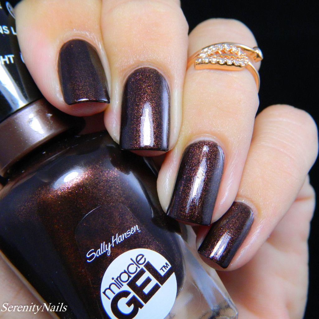 Sally Hansen Miracle Gel Spice Age Perfect fall color, dark brown ...