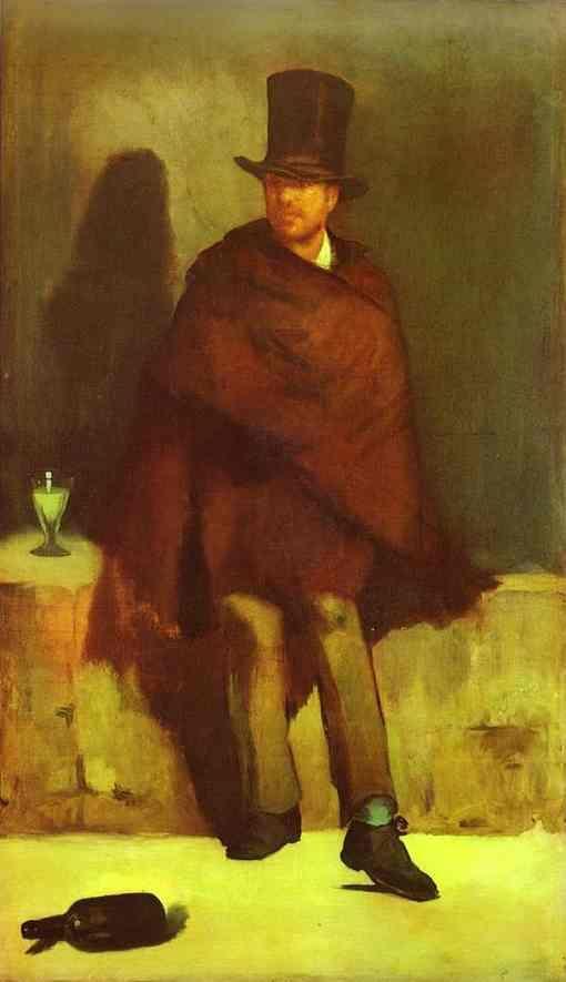 Image result for bebedores de absenta cuadro manet