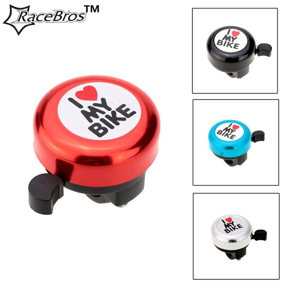 RaceBros Bicycle Bell I Love My Bike Printed Clear Sound Cute Bike Horn Alarm Warning Bell Ring Bicycle Accessory cycling safety