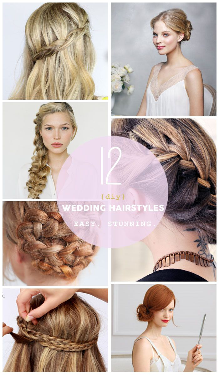 Easy Diy Wedding Hairstyles For Long Hair Diy Wedding Hair